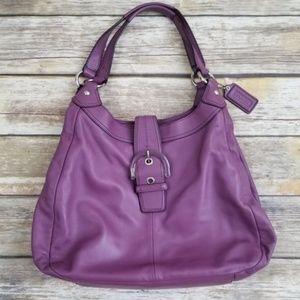 Coach F17092 Purple Hobo Shoulder Bag